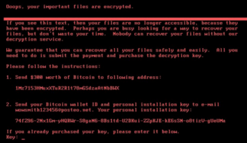 Petya ransomware, also know as GoldenEye